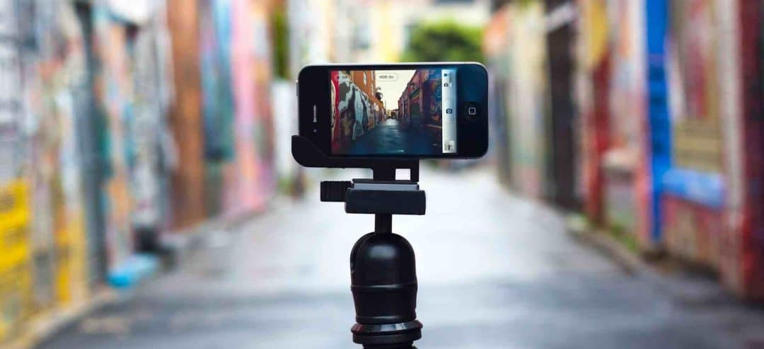filming with a smartphone
