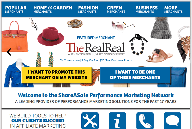 ShareASale, one of the best affiliate marketing programs for beginners