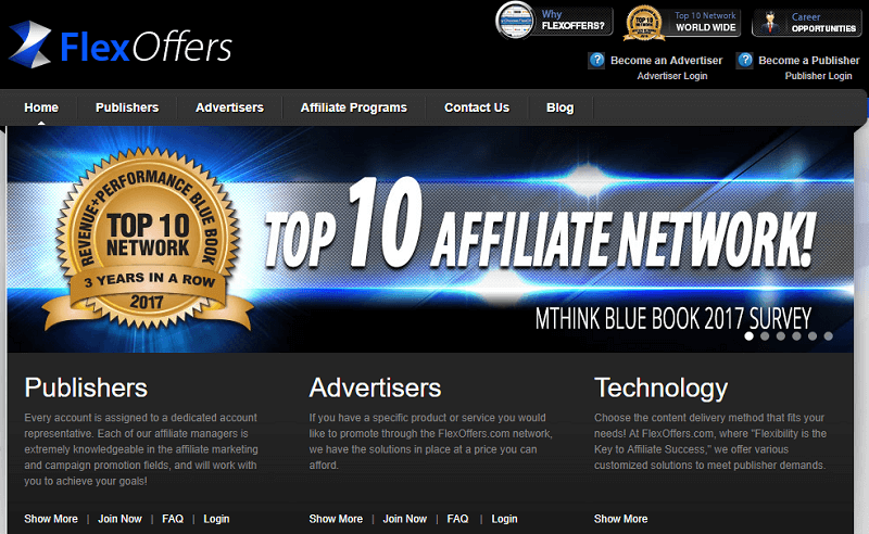 FlexOffers affiliate marketing platform