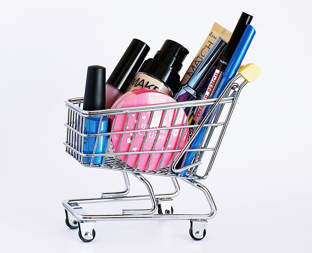 Cosmetics on cart