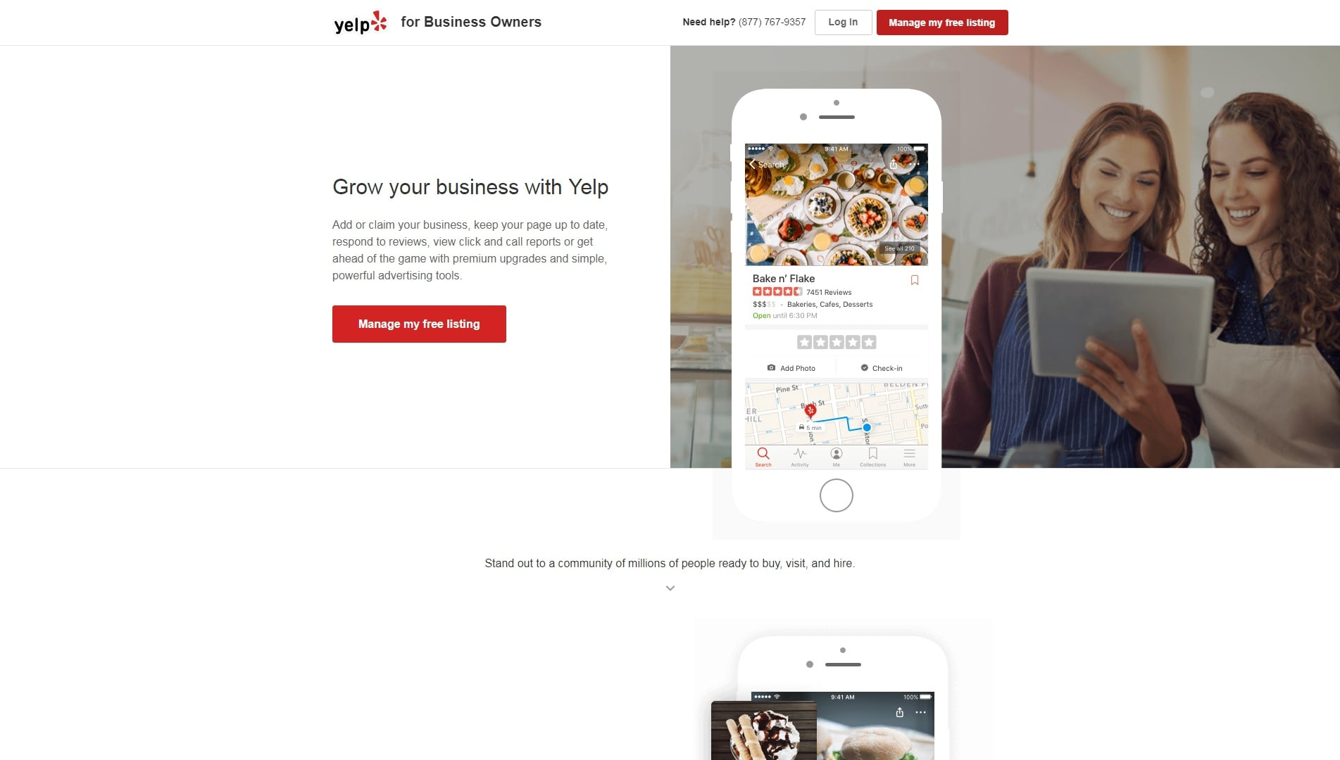 Photo of Yelp's website